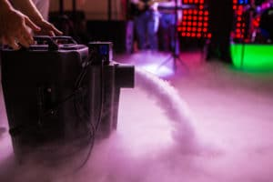 Fog Machines, Lasers, LED Lights, and Other Spooky Professional Equipment